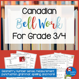 Canadian Bell Work | for Grade 3 and 4