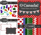 Canadian Digital Bundle (clip art, frames and paper) Comme