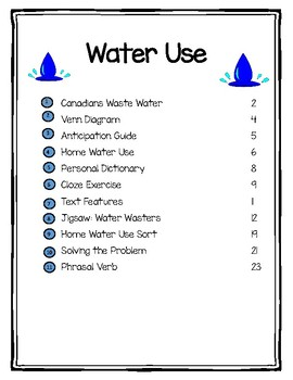 Canadian Domestic Water Use Adapted Unit
