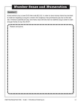 EQAO Test Ready Math Skills 3