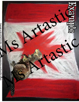 Canadian Flag Art Lesson
