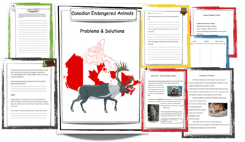 Canadian Endangered Animals - Readings & Activites