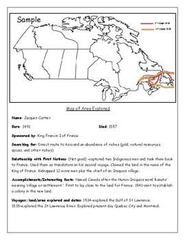 Canadian Explorer Trading Cards