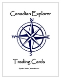 Canadian Explorer Trading Cards