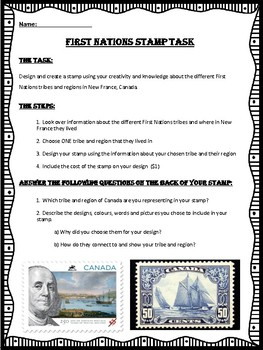 Canadian First Nations Assignment - Create a stamp!