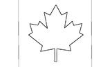 Canadian Flag Leaf Art Template