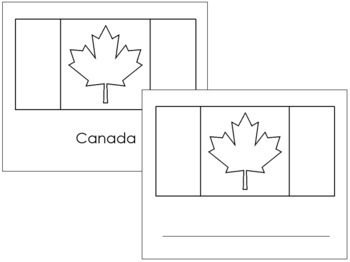 Canadian Flags: Outlines