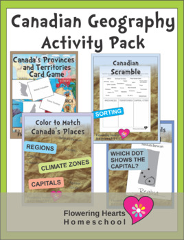 Canadian Geography Activity Pack