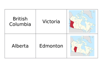 Canadian Geography Matching Game