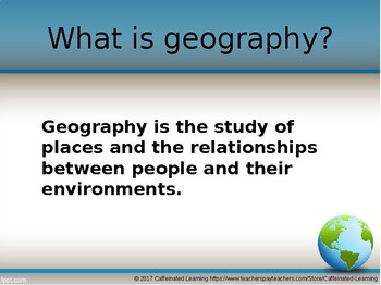 Canadian Geography Powerpoint