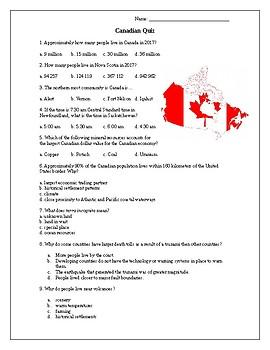 Canadian Geography Quiz