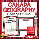 Canadian Geography Scavenger Hunt- A Map Reading Skills Activity