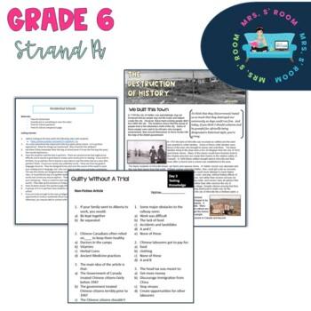 Canadian Grade 6 Social Studies Mega Unit