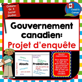 Canadian Government:  Community Mapping Lapbook Unit FRENC