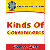 Canadian Government: Kinds of Governments Gr. 5-8