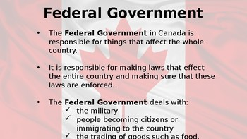 Canadian Government Powerpoint