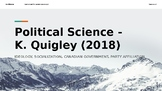 Canadian Government Slideshow & Lecture Notes