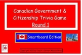 Canadian Government Smartboard Trivia Game - Round 1