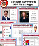 Canadian Government Unit - Updated Canada PDF File 93 Pages Social Studies