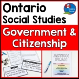 Ontario Grade 5 Social Studies:  Canadian Government and Citizenship