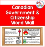 Canadian Government and Citizenship Word Wall Resource