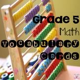 Canadian Grade 5 Math Vocabulary Word Wall