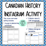 Canadian History Instagram Activity