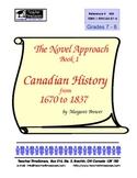 Canadian History (1) 1630-1837  Novel Studies