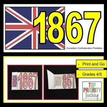Canadian History: 1867 Confederation Foldable