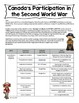 Canadian History 1939-1945: Canada's Participation in World War 2 Assignment