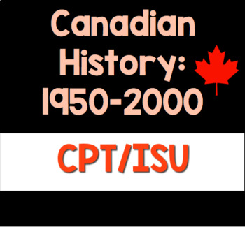 Canadian History 1950-2000: Final Project (Essay & Escape Game Development)