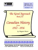 Canadian History (3) 1912-1936 - Novel Studies