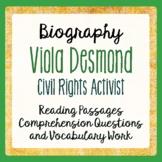 Canadian History Black History VIOLA DESMOND Texts, Activities Gr 4-6