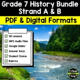 Grade 7 History Bundle New France, British North America,