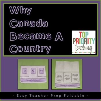 Canadian History: Confederation Foldable