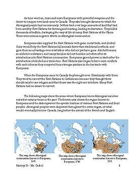 Canadian History - Contact Between First Nations and Europeans