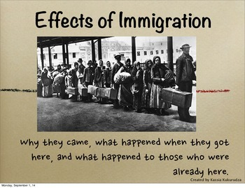 Canadian History: Effects of Immigration