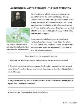Arctic Exploration John Franklin's Expedition Canadian History FREE