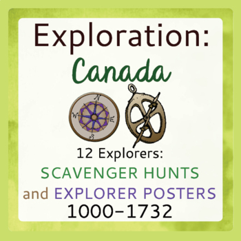 Canadian History Explorers Scavenger Hunts and Poster Sets 1000-1732