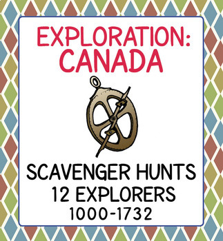 Canadian History Explorers Scavenger Hunts and Poster Sets 1000-1950 BUNDLE