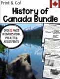 History of Canada Workbook & Activities