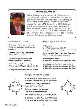 Canadian History - O Canada Our National Anthem: Texts, Activities Gr 5-6