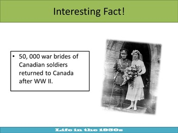 Canada and the 1950s: An Engaging Canadian History Powerpoint