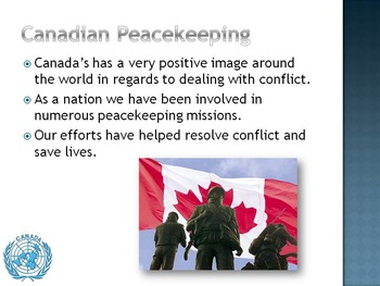 Canadian Peacekeeping - A Canadian Tradition - Simple and Clear PPT.