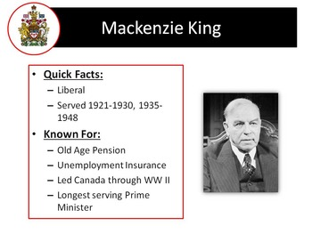 Canadian Prime Ministers of the Post-World War Two Era - King, Laurent etc.