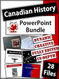 Canadian History Presentations (1914 - 2000) - 28 Dynamic Powerpoint Files!
