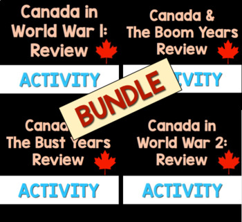 Canadian History Review Package Bundle!