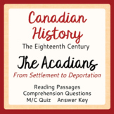 Canadian History ACADIANS: First Settlement to Deportation