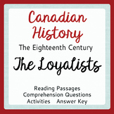 Canadian History THE LOYALISTS Texts and Activities