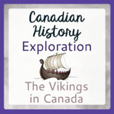 Exploration Canada THE VIKINGS Canadian History PRINT and
